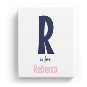 R is for Rebecca - Cartoony