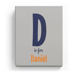 D is for Daniel - Cartoony