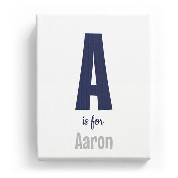 A is for Aaron - Cartoony