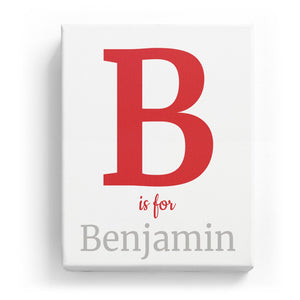 B is for Benjamin - Classic