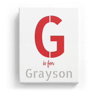 G is for Grayson - Stylistic
