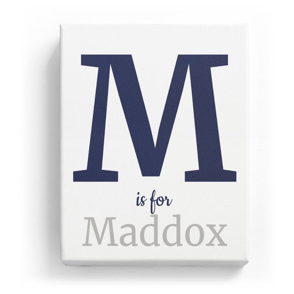 M is for Maddox - Classic