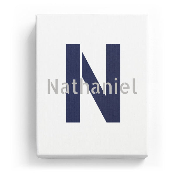 Nathaniel Overlaid on N - Stylistic