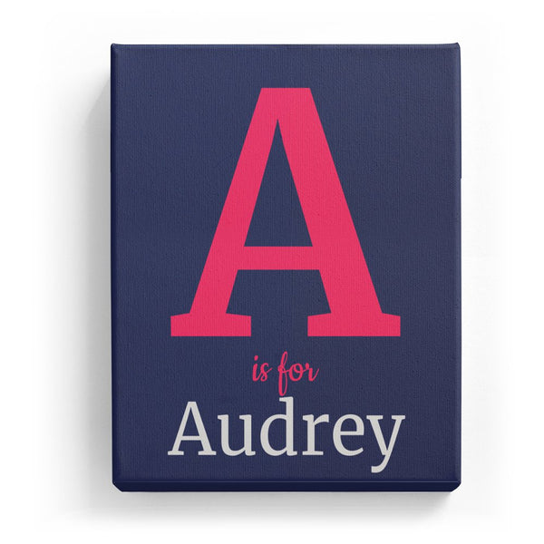 A is for Audrey - Classic