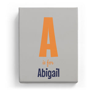 A is for Abigail - Cartoony