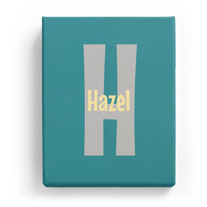 Hazel Overlaid on H - Cartoony