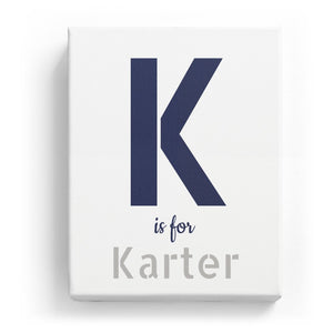 K is for Karter - Stylistic