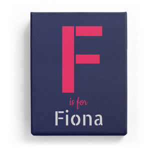 F is for Fiona - Stylistic
