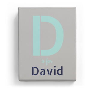 D is for David - Stylistic