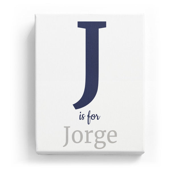 J is for Jorge - Classic