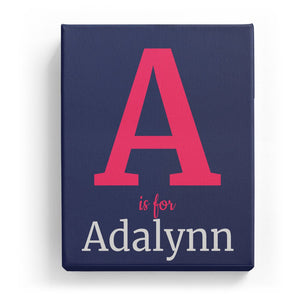 A is for Adalynn - Classic