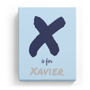 X is for Xavier - Artistic