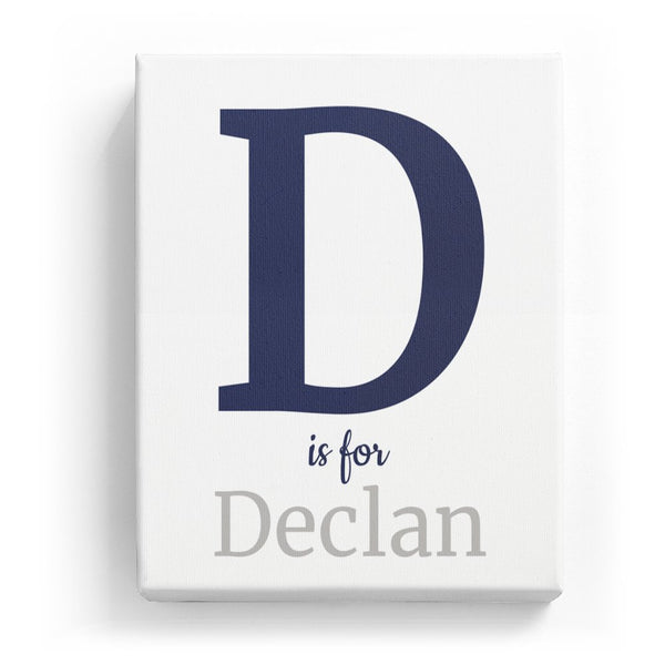 D is for Declan - Classic