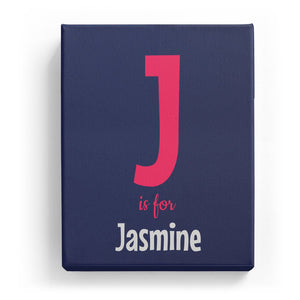 J is for Jasmine - Cartoony