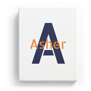 Asher Overlaid on A - Stylistic