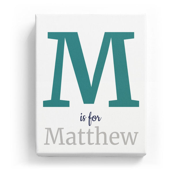 M is for Matthew - Classic