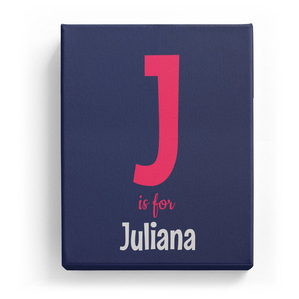 J is for Juliana - Cartoony