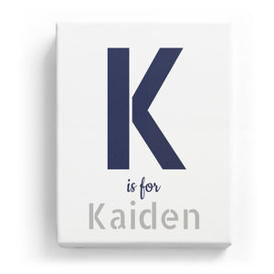K is for Kaiden - Stylistic