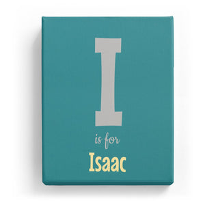 I is for Isaac - Cartoony