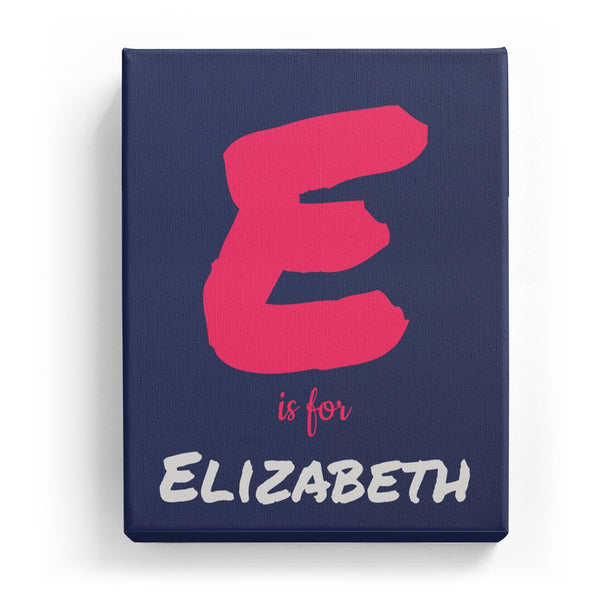 E is for Elizabeth - Artistic