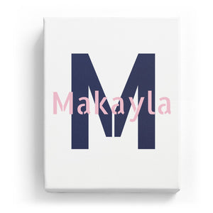 Makayla Overlaid on M - Stylistic