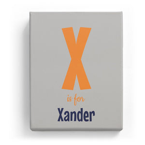 X is for Xander - Cartoony