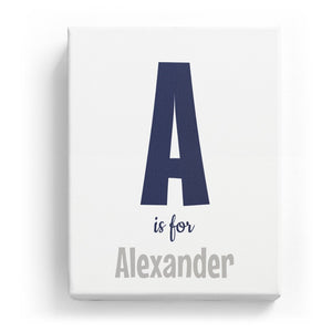 A is for Alexander - Cartoony
