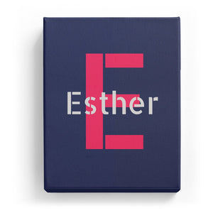 Esther Overlaid on E - Stylistic