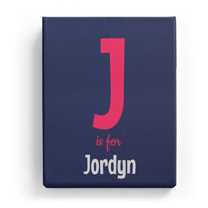 J is for Jordyn - Cartoony