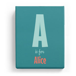 A is for Alice - Cartoony
