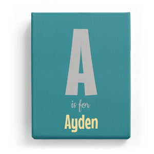 A is for Ayden - Cartoony