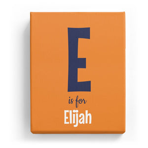 E is for Elijah - Cartoony