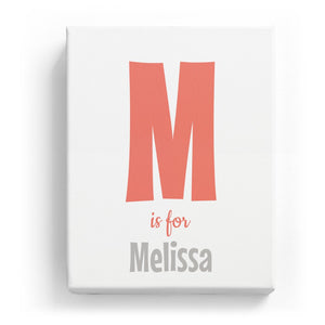 M is for Melissa - Cartoony