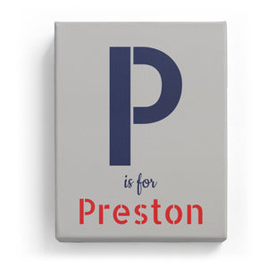P is for Preston - Stylistic