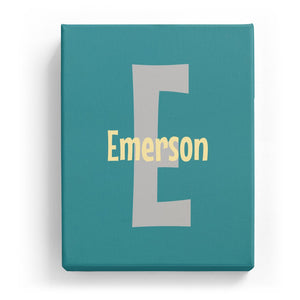 Emerson Overlaid on E - Cartoony