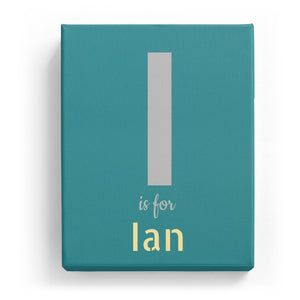 I is for Ian - Stylistic