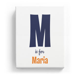 M is for Maria - Cartoony