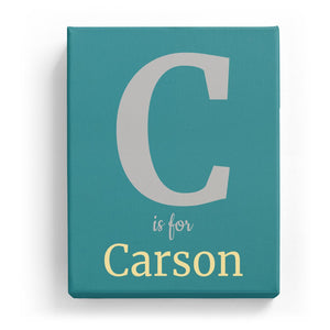 C is for Carson - Classic