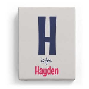 H is for Hayden - Cartoony