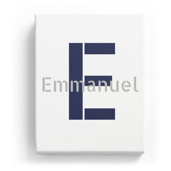 Emmanuel Overlaid on E - Stylistic