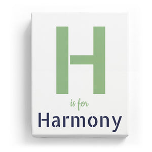 H is for Harmony - Stylistic