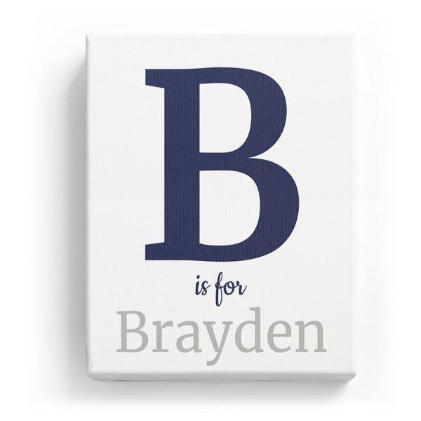 B is for Brayden - Classic