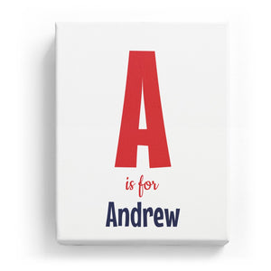 A is for Andrew - Cartoony