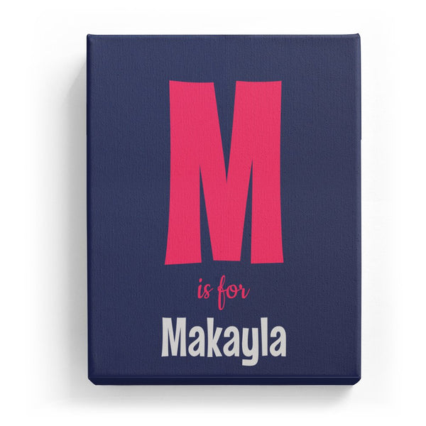 M is for Makayla - Cartoony