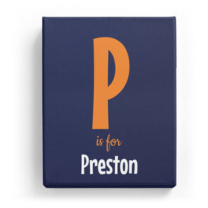 P is for Preston - Cartoony