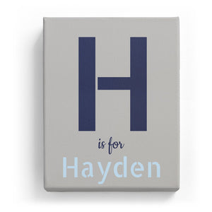 H is for Hayden - Stylistic