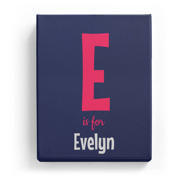 E is for Evelyn - Cartoony