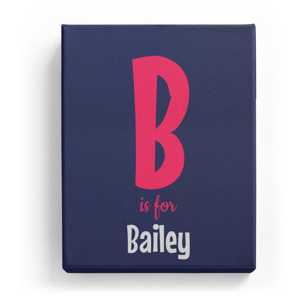B is for Bailey - Cartoony