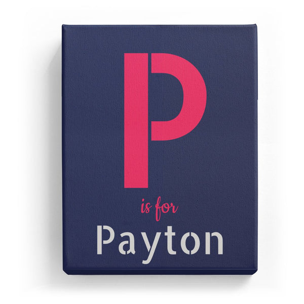 P is for Payton - Stylistic