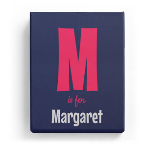M is for Margaret - Cartoony